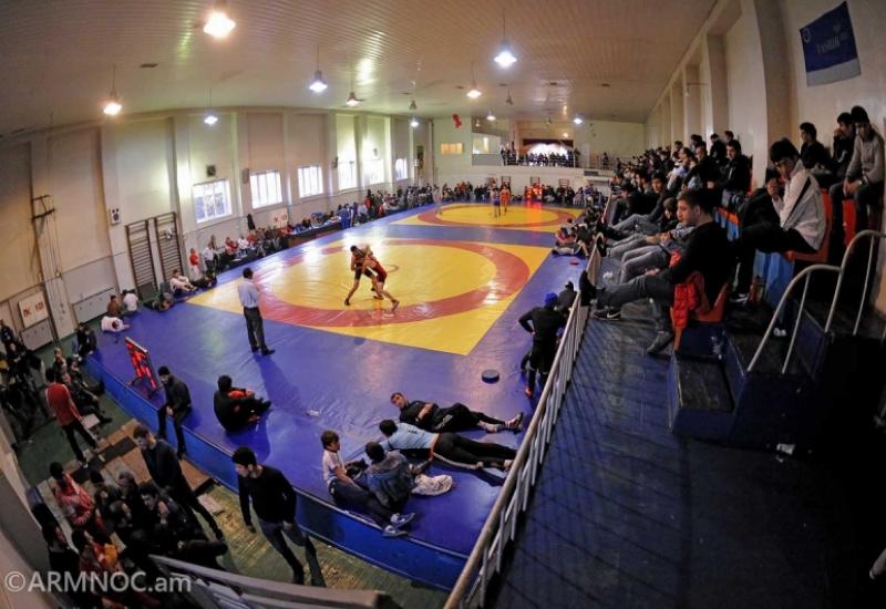 Armenian wrestling teams are at a training camp in Tsakhkadzor -